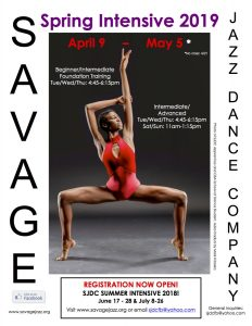 Savage Jazz Dance Spring Intensive 2019
